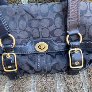 Coach Bags - Coach Hampton Signature Bag Black w/Gold Hardware